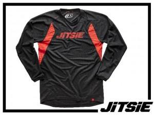 Jersey Jitsie Airtime langarm - schwarz/rot - GR. XXL