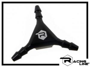 Racing Line Y-Verteiler - schwarz