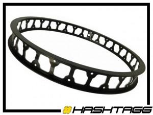 """HR-Felge 19"""" Hashtagg 47mm (32 Loch) - schwarz"""