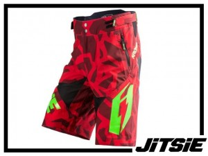 Short Jitsie B3 Kroko - red/green