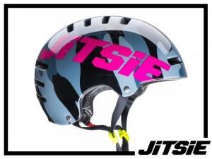 Helm Jitsie Armor Squad - yellow/violet