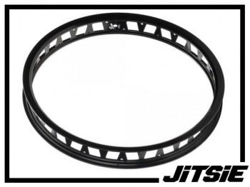 """HR-Felge 19"""" Jitsie Single Wall 48mm (32 Loch) - schwarz"""