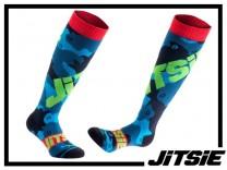 Socken Jitsie Squad lang - navy/green - S/M
