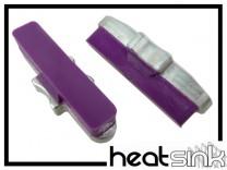 Bremsbeläge Heatsink Magura auf Aluhalter - purple