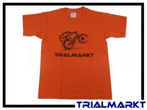 T-Shirt Trialmarkt Kids - Sunset Orange 7/8 Jahre