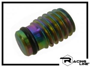 Racing Line Verschluss-Schraube M6 Titan mit Dichtung - rainbow