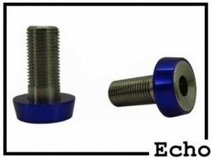 Achs-Schrauben Echo 10mm - Edelstahl silber