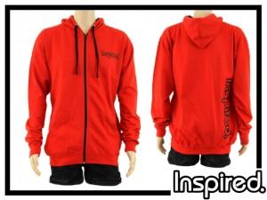 Inspired Hoody Zip Sweatshirt - rot