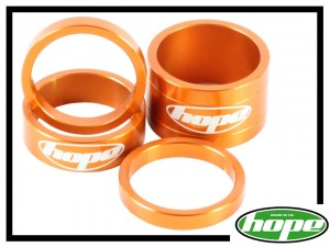 Vorbau-Spacerset Hope Aluminium orange