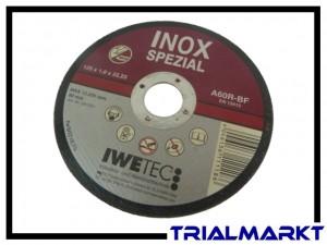 Inox-Schleifscheibe für Aluminiumfelgen 125mm