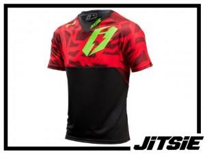Jersey Jitsie B3 Kroko kurzarm - red/green