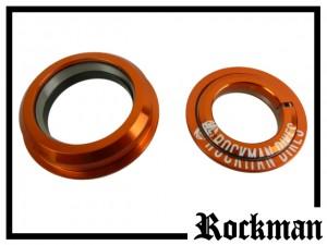 Steuersatz Rockman semi-integriert tapered - orange