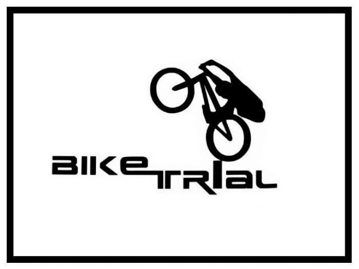 Aufkleber Bike Trial Logo - klein rot