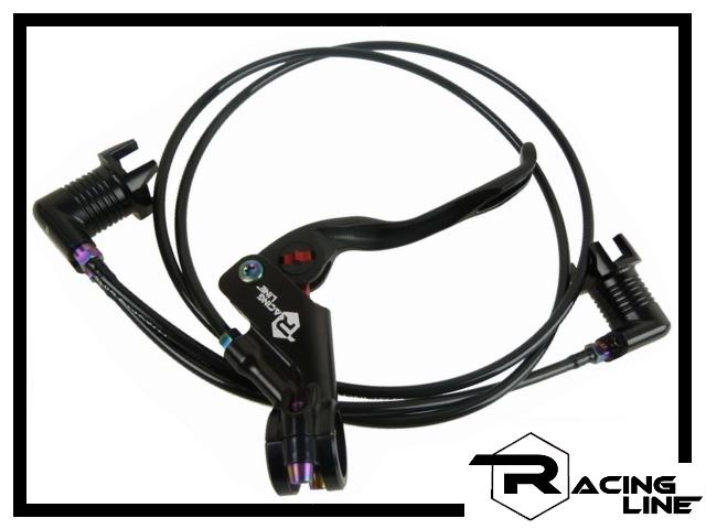 Racing Line Bremse CNC Ti. 3-Finger - schwarz