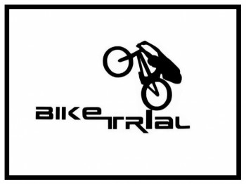Aufkleber Bike Trial Logo - klein blau