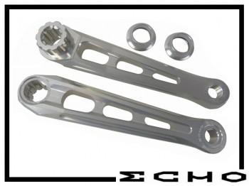 Kurbelpaar Echo SL silber - splined 160mm