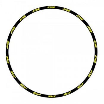 Felgensticker Jitsie - schwarz/gelb