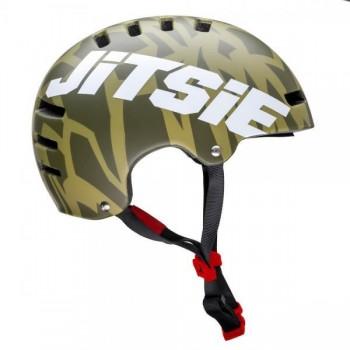 Helm Jitsie Armor Kroko - khaki/white