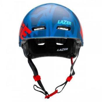 Helm Jitsie Armor Kroko - blue/red