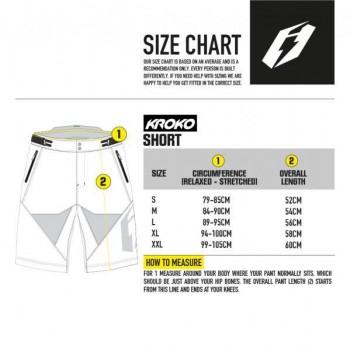 Short Jitsie B3 Kroko - silver/yellow