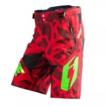 Short Jitsie B3 Kroko - red/green