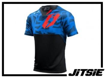 Jersey Jitsie B3 Kroko kurzarm - blue/red