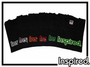 T-Shirt Inspired Logo - schwarz - Gr. XL