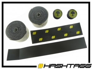 Lenkerband Hashtagg - schwarz/gelb