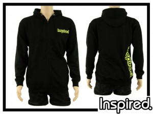 Inspired Hoody Zip Sweatshirt - schwarz
