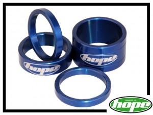 Vorbau-Spacerset Hope Aluminium blau