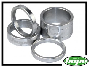 Vorbau-Spacerset Hope Aluminium silber