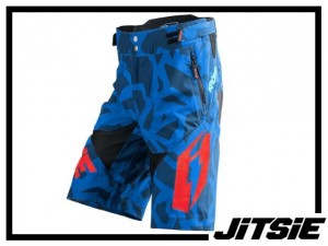 Short Jitsie B3 Kroko - blue/red Kids XL