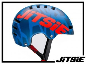 Helm Jitsie Armor Kroko - blue/red