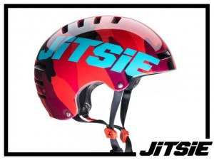 Helm Jitsie Armor Squad - red/teal L