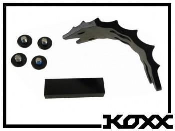 Unterschutzplatte Koxx 4-Loch - schwarz