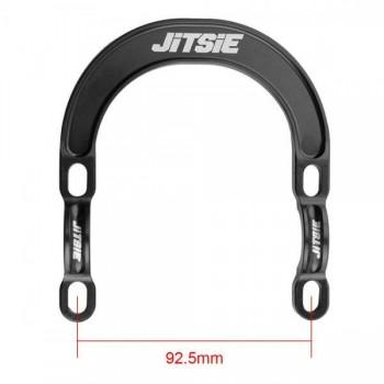Halteschellen Jitsie mit Brake Booster vorne - schwarz 87,5mm