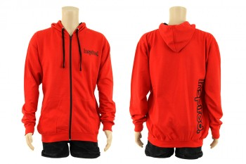 Inspired Hoody Zip Sweatshirt - rot S