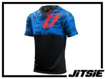 Jersey Jitsie B3 Kroko kurzarm - blue/red S