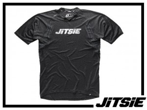 Jersey Jitsie Airtime kurzarm - schwarz/weiß Kids XL