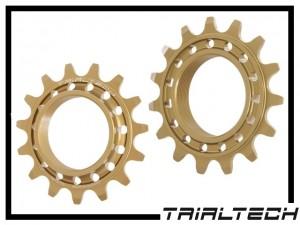 Schraubritzel Trialtech Sport 15 Z. Aluminium