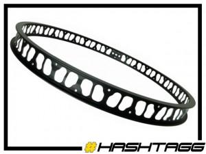 """HR-Felge 26"""" Hashtagg 47mm (32 Loch) - schwarz"""
