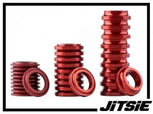 Naben-Spacer Jitsie Aluminium (Stück) - rot 3mm