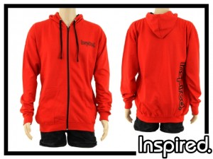 Inspired Hoody Zip Sweatshirt - rot M