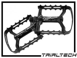 Pedale Trialtech Single Cage Carthy Signature - Stahl