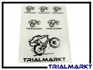 Aufklebersatz Trialmarkt Logo - Set silber