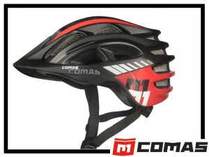 Helm Comas - schwarz/rot