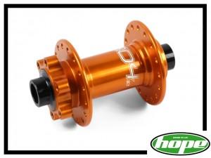 VR-Nabe Hope Pro 4 100mm/15mm disc (32 Loch) orange