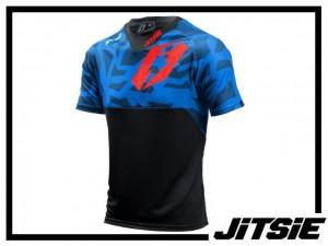 Jersey Jitsie B3 Kroko kurzarm - blue/red Kids L