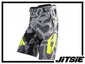 Short Jitsie B3 Kroko - silver/yellow