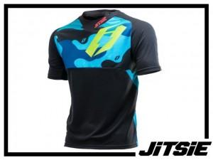 Jersey Jitsie B3 Squad kurzarm - 2017 - navy/green Kids XL